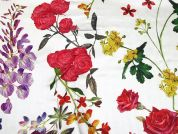 John Kaldor Floral Print Silk & Rayon Satin Dress Fabric  Multicoloured