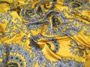 John Kaldor Silk Rayon Satin Fabric  Gold