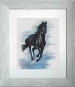 Luca-S Counted Cross Stitch Kit Black Horse