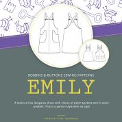 Bobbins & Buttons Sewing Pattern Emily Dungaree Dress