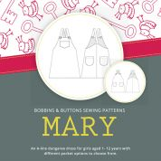 Bobbins & Buttons Sewing Pattern Mary Dungaree Dress