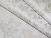 Floral Woven Brocade Dress Fabric  Ivory