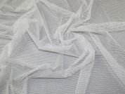 Glitter Tulle Net Fabric  Ivory