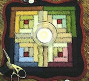 Bare Roots Easy Sewing Pattern Log Cabin Mini Mat