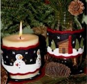 Bare Roots Easy Sewing Pattern Winter Candle Wraps & Mini Mats