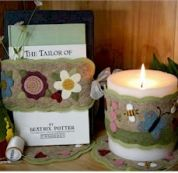 Bare Roots Easy Sewing Pattern Spring Candle Wraps & Mini Mats