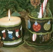 Bare Roots Easy Sewing Pattern Christmas Candle Wraps & Mini Mats