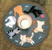 Bare Roots Easy Sewing Pattern Cats Meow Mini Mat