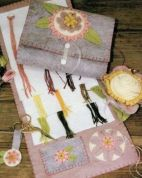 Bare Roots Easy Sewing Pattern Floss Keeper, Pincushion & Scissors Charm