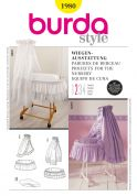 Burda Homeware Easy Sewing Pattern 1980 Projects for the Nursery Bassinet with Canopy