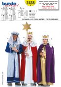 Burda Childrens Easy Sewing Pattern 2438 3 Holy Kings Costumes Pattern