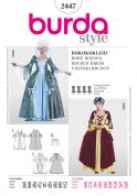 Burda Ladies Sewing Pattern 2447 Rococo Fancy Dress Costumes