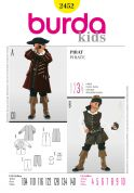Burda Childrens Sewing Pattern 2452 Pirate Fancy Dress Costumes