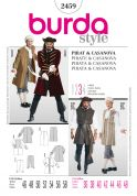 Burda Mens Sewing Pattern 2459 Pirate & Casanova Fancy Dress Costumes