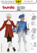 Burda Childrens Sewing Pattern 2461 Prince & Mozart Fancy Dress Costumes