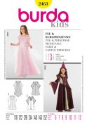 Burda Childrens Sewing Pattern 2463 Fairy & Castle Princess Fancy Dress Costumes