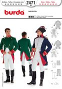 Burda Men's Sewing Pattern 2471 Napoleon Fancy Dress Costumes