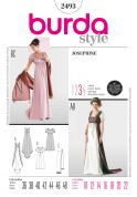 Burda Ladies Sewing Pattern 2493 Josephine Empire Dress Fancy Dress Costumes