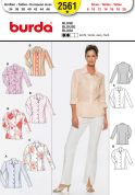 Burda Ladies Easy Sewing Pattern 2561 Smart Shirts with Collars