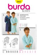Burda Childrens Easy Sewing Pattern 2662 Bathrobe Dressing Gowns