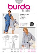 Burda Men's & Ladies Easy Sewing Pattern 2691 Pyjamas Sleepwear