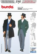 Burda Men's Sewing Pattern 2767 Historical Suit 1848 Fancy Dress Costumes