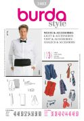 Burda Mens Sewing Pattern 3403 Waistcoat, Ties, Bowtie & Accessories