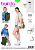 Burda Accessories Sewing Pattern 6400 Backpack with Zipper Fastener