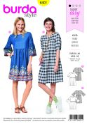 Burda Ladies Easy Sewing Pattern 6401 Swing Dress with Sleeve Variations