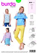Burda Ladies Easy Sewing Pattern 6405 Tops in Three Variations
