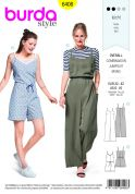Burda Ladies Easy Sewing Pattern 6408 Jumpsuit in Various Lengths