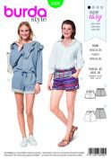 Burda Ladies Easy Sewing Pattern 6409 Shorts with Pockets