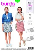 Burda Ladies Easy Sewing Pattern 6410 Flared Skirts With Pockets