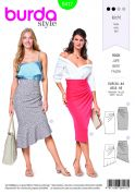 Burda Ladies Easy Sewing Pattern 6417 Asymmetric Skirts