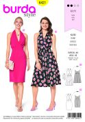 Burda Ladies Easy Sewing Pattern 6421 Swing Dresses