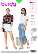 Burda Ladies Easy Sewing Pattern 6426 Fancy Summer Blouses