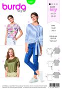 Burda Ladies Easy Sewing Pattern 6427 Tops with Waist Ties