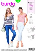 Burda Ladies Easy Sewing Pattern 6428 Fitted T Shirts