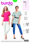 Burda Ladies Easy Sewing Pattern 6429 Trendy Tops