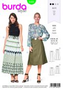 Burda Ladies Easy Sewing Pattern 6430 Pleated Skirts