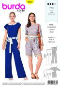 Burda Ladies Sewing Pattern 6433 Summer Jumpsuits