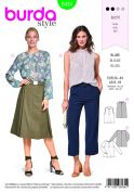 Burda Ladies Easy Sewing Pattern 6434 Feminine Blouses