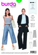 Burda Ladies Sewing Pattern 6436 Wide Leg Trousers