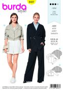 Burda Ladies Sewing Pattern 6437 Blouse & Blazer