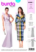 Burda Ladies Sewing Pattern 6442 V Neck Evening Dresses