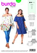 Burda Ladies Plus Size Easy Sewing Pattern 6446 Blouse & Tunic