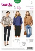 Burda Ladies Easy Sewing Pattern 6458 Sleek Blouse Tops