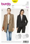 Burda Ladies Sewing Pattern 6463 Casual Blazer Jackets