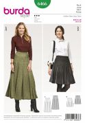 Burda Ladies Sewing Pattern 6466 Pleated Skirts