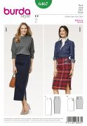 Burda Ladies Easy Sewing Pattern 6467 High Waisted Skirts